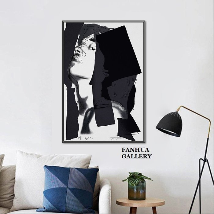 C - R - A - Z - Y - T - O - W - N Andy Warhol安迪沃時尚男人線條掛畫pop波普藝術版畫商業空間軟裝美式設計個性裝飾畫