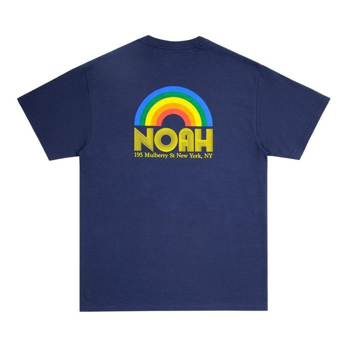 全新商品 NOAH NYC 19SS RAINBOW SHOP 短袖 TEE 彩虹 深藍色 天藍色 橘色