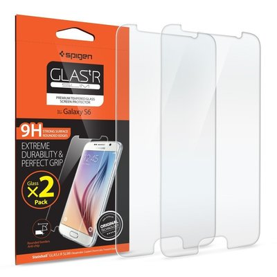 SPIGEN SGP Samsung Galaxy 三星 S6 GLAStR SLIM 玻璃保護貼 保護膜 9H 2片入
