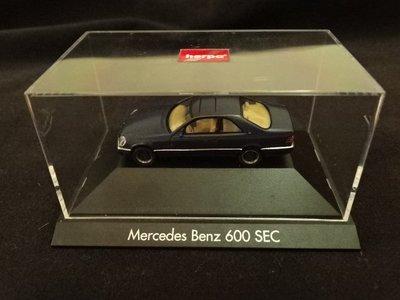 【真晶采精品】西德herpa 限量絕版(約1994發行)1:87 Mercedes Benz 600SEC
