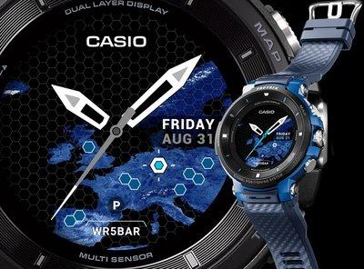 展示品限Sunrise標日製Casio卡西歐WSD-F30智慧手錶PRO TREK雙層螢幕Wear OS搭安卓蘋果iOS參Galaxy Watch iWatch