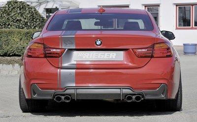 【樂駒】RIEGER BMW F32 F33 F36 rear skirt insert 後下擾流 後下巴 雙邊雙出