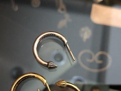 造夢師 手工製作【Chrome Hearts】【復刻】Earring Plain Hoop 925純銀 耳環