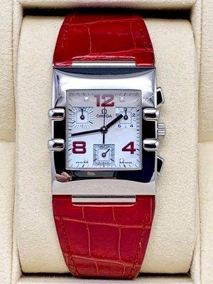 重序名錶 OMEGA 歐米茄 Constellation 星座系列 方形珍珠母貝面盤 計時石英女用鑽錶