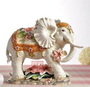 INPHIC-歐式手繪陶瓷高貴典雅招財象擺飾工藝品家居客廳裝飾品