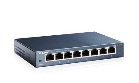【鳥鵬電腦】TP-LINK TL-SG108 8埠 專業級Gigabit 交換器 鐵殼 8PORT HUB 集線器