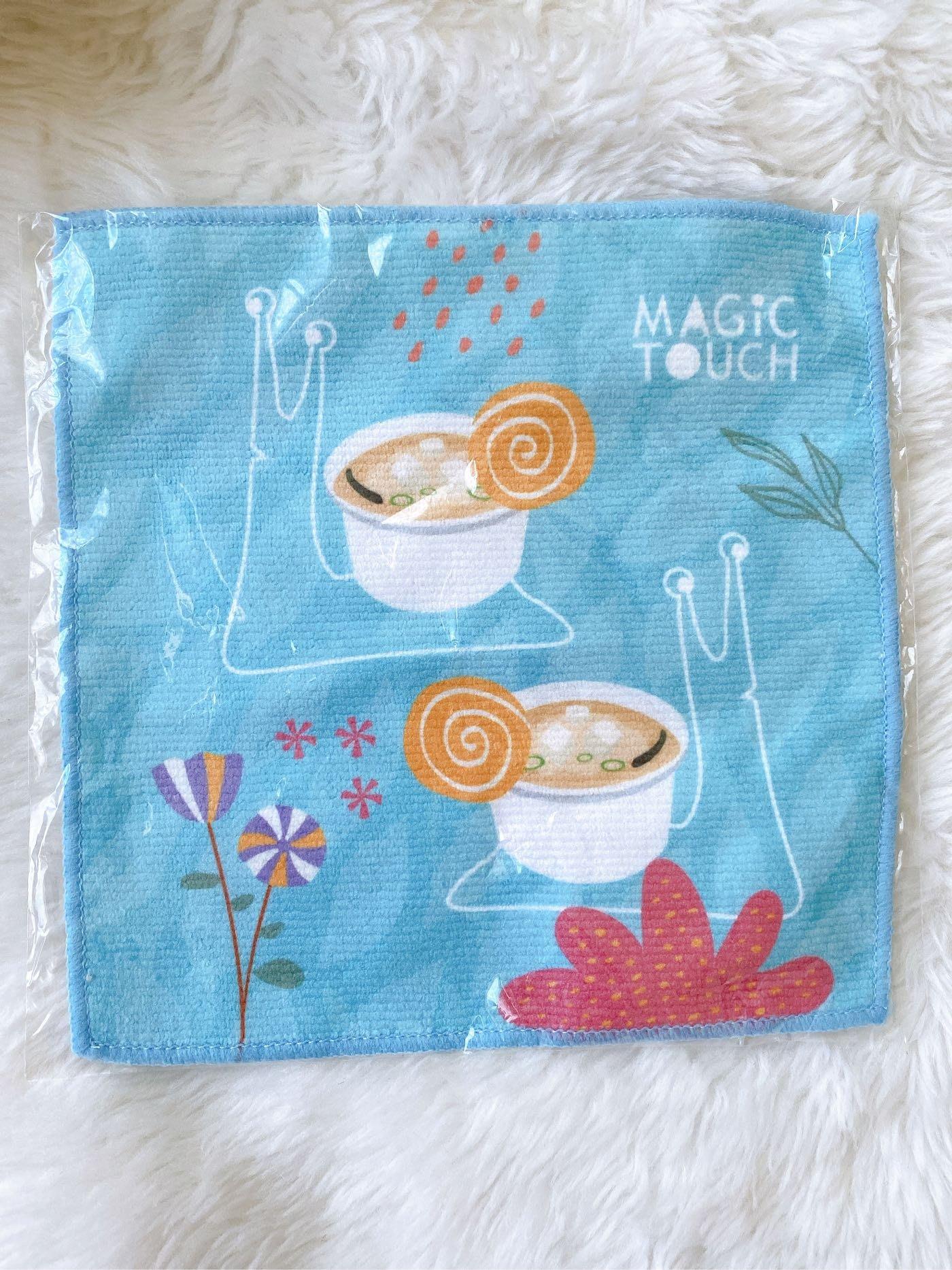 點爭鮮 爭鮮 Magic Touch 小方巾 擦手巾 擦汗巾 手帕