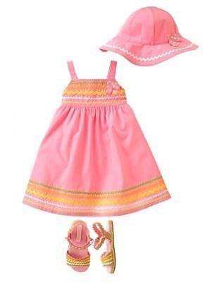 Gymboree 女童粉色彩帶露背瓢蟲洋裝 3-6M,12-18M,18-24M,2T,3T,4T【D1】