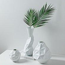 〖洋碼頭〗北歐創意不規則花瓶擺件白色簡約室內客廳樣板間幾何陶瓷插花花器 bhm341