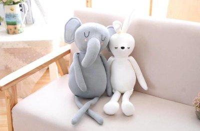 ☆汪汪鼠☆【2款】卡通創意長腿先生娃娃 兔子 大象 玩偶 布偶 聖誕節交換禮物 生日禮物 紓壓小物