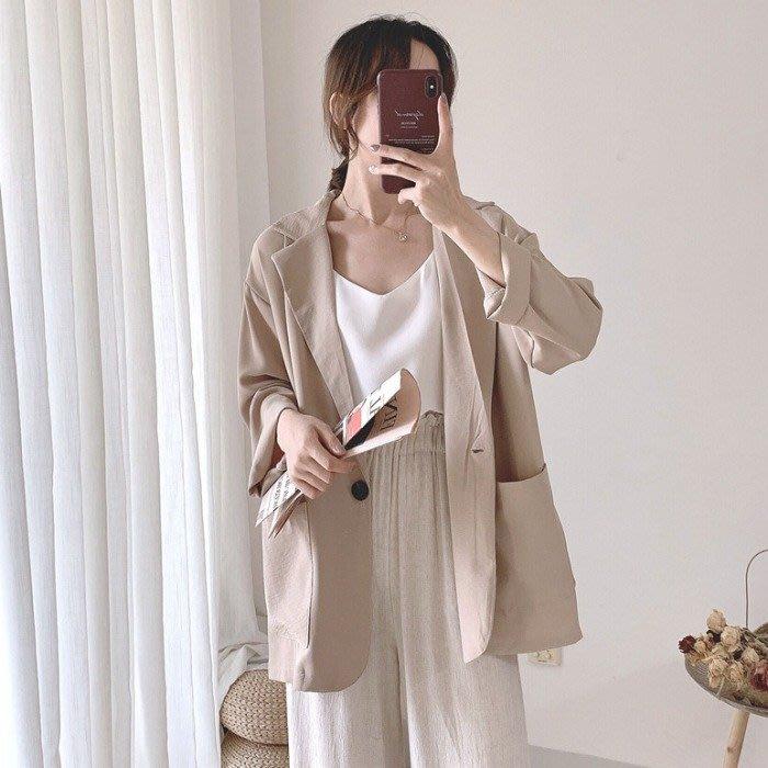 小香風 短袖T恤 時尚穿搭 小西裝外套女款網紅氣質百搭純色寬松薄款長袖西服上衣