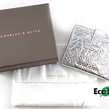 [Eco Ring HK]*Charles & Keith Card Case Silver Canvas*Rank A-207001119-