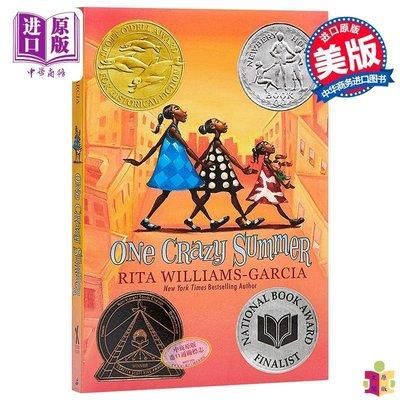 [文閲原版]預售瘋狂的夏天 英文原版 One Crazy Summer 紐伯瑞銀獎小說 兒童文學 8-12歲