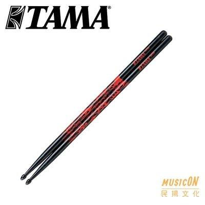 【民揚樂器】TAMA Rhythmic Fire系列 爵士鼓鼓棒 5B 7AFBR 黑底紅火焰 日本製