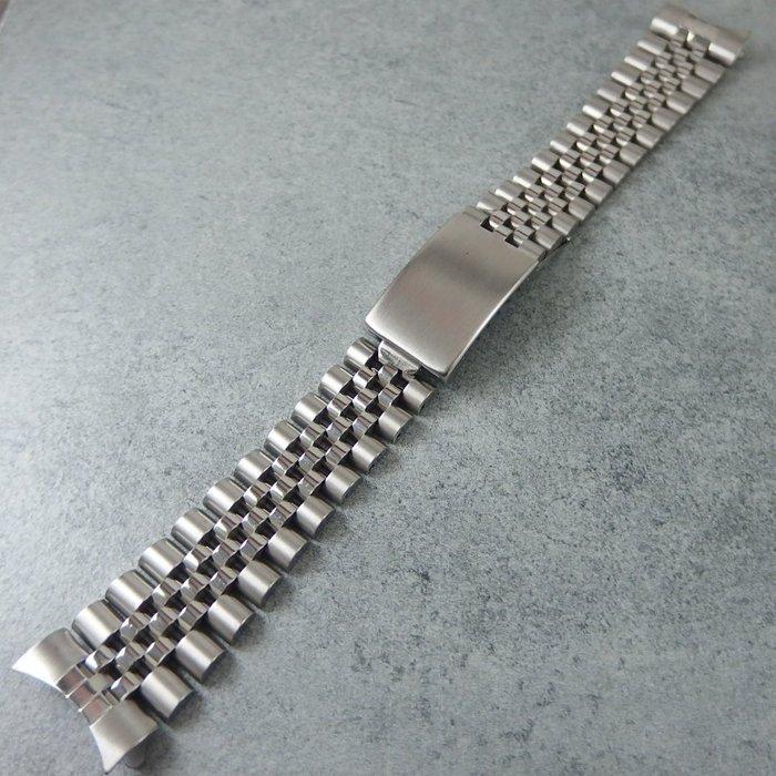 ~錶帶家~~ 代用~勞力士 Rolex 16234 16014 20mm 五珠全實心不銹鋼