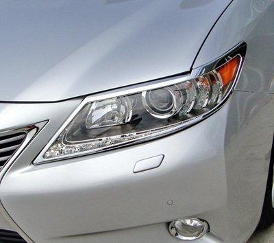~圓夢工廠~ Lexus ES300h ES350 2013~2015年 鍍鉻前燈框 大燈框 頭燈框
