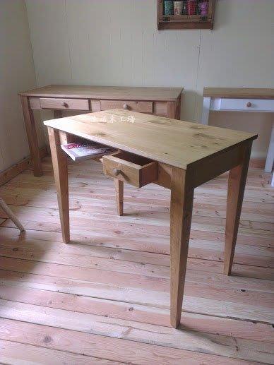 生活木工場-A2實木桌/書桌/工作桌/電腦桌/訂購-斜式桌腳賣場(單抽+開放式置物格)