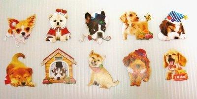 日本 Flake Stickers 小狗 貼紙(10枚)