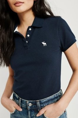 AF Abercrombie & Fitch 麋鹿 現貨 POLO衫 藍色