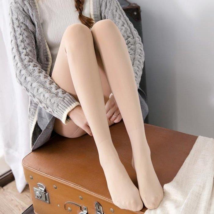 秋冬款連褲襪加厚加絨防勾絲光腿神器肉色絲襪保暖女踩腳打底褲襪