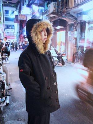【RV搖滾古著】 Alpha ANCHORAGE PEA COAT 絕版品純羊毛海軍大衣 同日版AC-0004