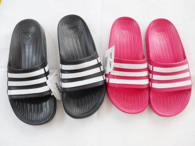 409~(請詢問 )ADIDAS 拖鞋 童段 女段 愛迪達 一體成型 新上市黑白  桃 1~6號 20~25公分 台南市