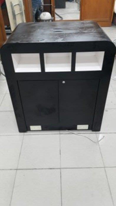 樂居二手家具*D1117CJJ 黑色平面展示櫃*展示架 陳列櫃 中島櫃 櫃台 台中二手家具買賣/書櫃/收納櫃