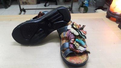 MACANNA麥坎納 麥坎納 花朵 高跟拖鞋 環保鞋子氧化分解製作新鞋底 修鞋 換大底 底部脫落 壞掉 鞋底 氧化 分解