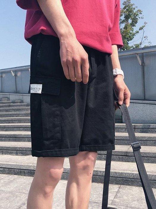 男士褲子日系工裝短褲韓版潮流休閒褲五分褲 芊芊思語 (可開立發票)