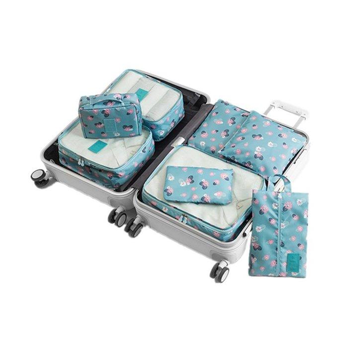 創意 便攜 大容量旅行收納袋套裝洗漱包大容量行李箱衣服整理包便攜旅游防水化妝包