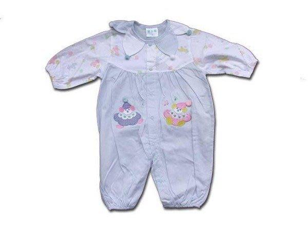 可愛寶貝---◎◎全新春秋小丑繡花兩用薄長袖嬰兒服◎◎☆☆人氣商品