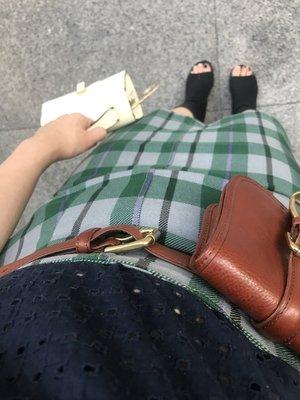 SLY plaid high waist skirt/SLY高腰格紋裙