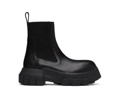 [全新真品代購-F/W20 新品!] Rick Owens 黑色皮革 靴子 / 厚底鞋 (TRACTOR)