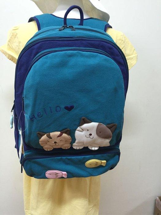 日本卡拉貓~甜甜喵咪大容量安全背帶防水後背包
