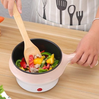 全館降價-多功能學生寢室小鍋炒菜神器煮面條不粘鍋迷你煲湯電鍋單人電煎鍋