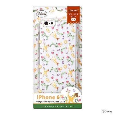 尼德斯Nydus~* 日本正版 迪士尼 小鹿斑比 透明 硬殼 手機殼 小花 4.7吋 iPhone6