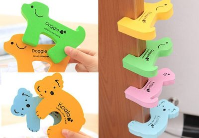 加厚款 安全門卡 可愛動物造型兒童卡通 安全門擋 門夾 防寶寶夾傷手 卡住門避免手夾到