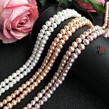 DIY配飾天然淡水蔥頭珍珠 橢圓沖頭珍珠散珠子串diy配件手作材料飾品配飾