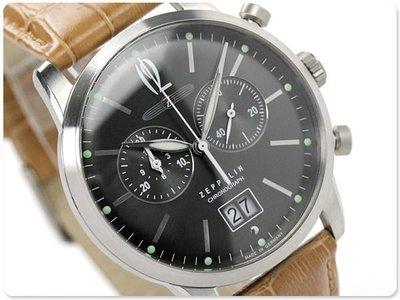 ZEPPELIN 齊柏林飛船 手錶 FLATLINE 40mm 德國 飛行錶 航空錶 7386-1