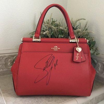 Coco小舖COACH 24053 Selena Grace Bag In Mixed Leathers 紅色限量簽名款