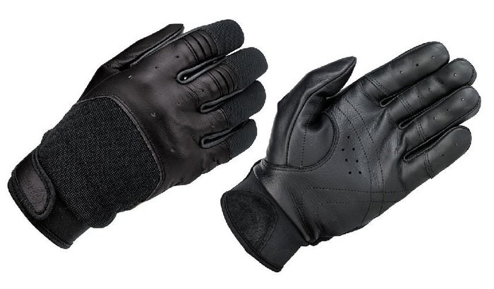 (I LOVE樂多)USA Biltwell BANTAM GLOVES - BLACK 皮革尼龍 騎士皮手套 黑