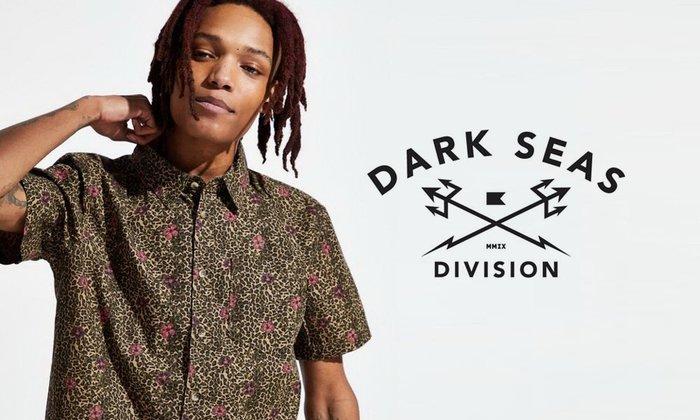 GOODFORIT / 美國Dark Seas Nassau Shirt豹紋島嶼花卉短袖襯衫