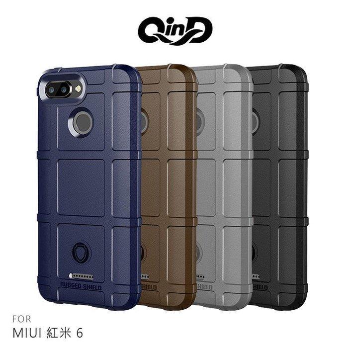 --庫米--QinD MIUI 紅米 6/ Note6 Pro 戰術護盾保護套 防摔殼 軟殼 TPU套