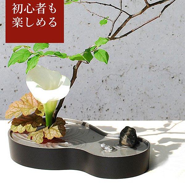 日本【銀雅堂】禪風雫影水盤花器-HISAGO