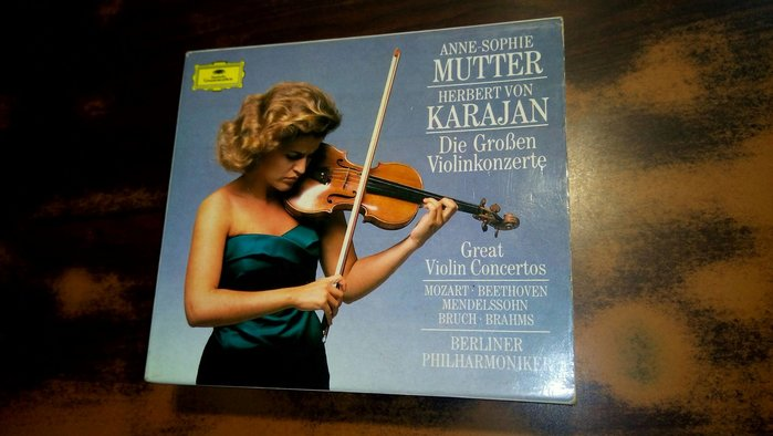 好音悅 半銀圈 Karajan Mutter 小提琴協奏曲集 BPO DG 4CD 德PMDC版 415565-2