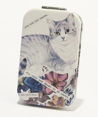 辛希亞 in JP ♠ 日本代購 Cat's NapTime 貓 花朵 精緻 摺疊鏡 隨身鏡