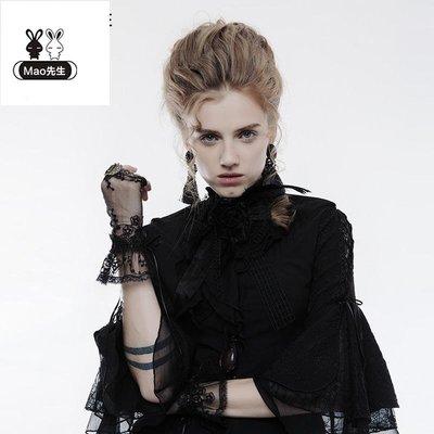 貓先生 pr朋克 狀態配飾 品 暗黑 系哥特風 蕾絲手套 Goth ic