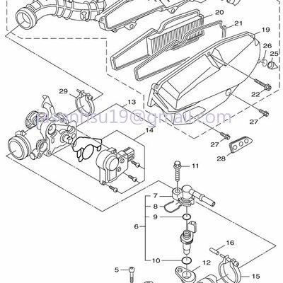 【車輪屋】YAMAHA 山葉原廠零件 FORCE 155 空濾 節流閥 岐管 排氣管 周邊相關零件 歡迎詢價