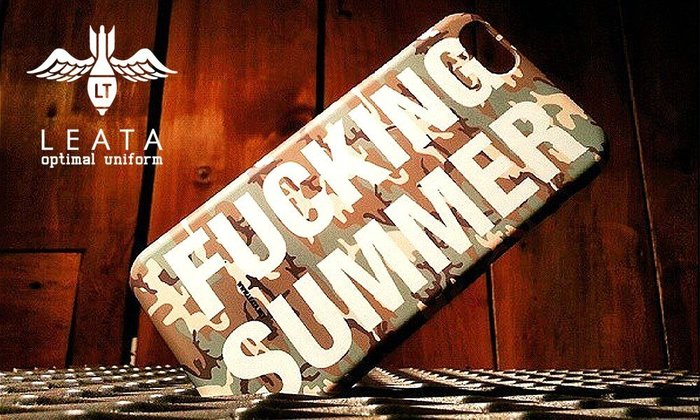 GOODFORIT / 韓國LEATA FUCKING SUMMER iPhone 6 Case/黑迷彩、迷彩兩色