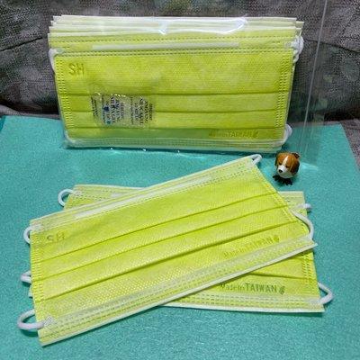 現貨上好🌈柚子綠🌈成人平面口罩(10入)
